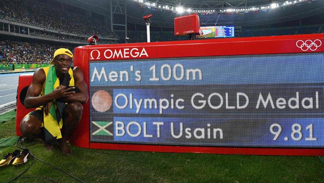"""Siebenkampf-Youngster Lagger: """"Bolt ist so cool!"""" (Bild: AFP)"""