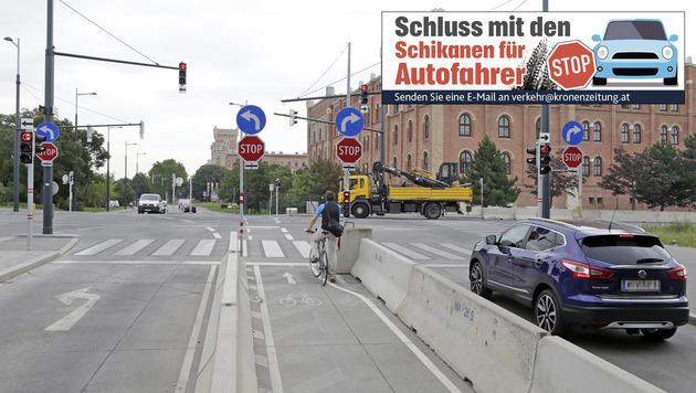 """Ärger über neue Spurführung: """"Reine Schikane"""" (Bild: Klemens Groh)"""