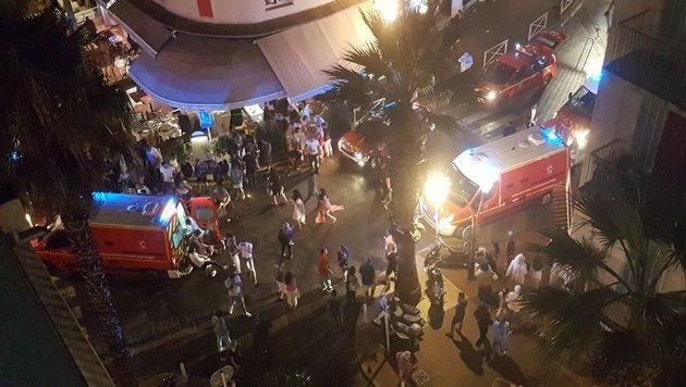Massenpanik nach Knallgeräuschen - 40 Verletzte (Bild: twitter.com)
