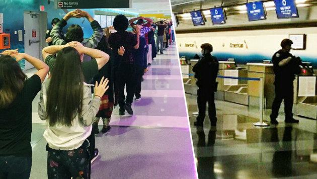 New York: Zwei Terminals auf JFK-Flughafen geräumt (Bild: twitter.com, NYPD Special Operations)