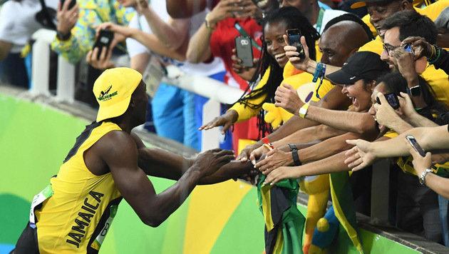 Schon wieder Gold! Bolt zu gut für diese Welt (Bild: AFP)