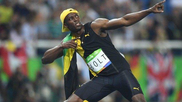 Schon wieder Gold! Bolt zu gut für diese Welt (Bild: APA/AFP/JOHANNES EISELE)