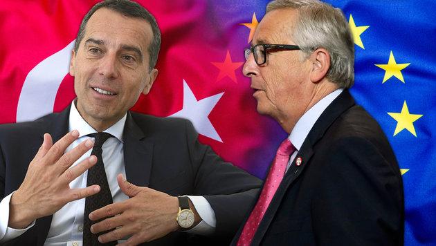 Kern liegt mit Juncker im Clinch. (Bild: thinkstockphotos.de, APA/HARALD SCHNEIDER, AP)