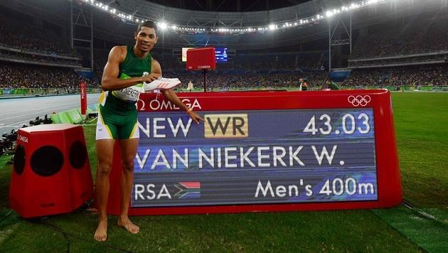 Van Niekerk überragend! Gold mit Weltrekord (Bild: AFP)