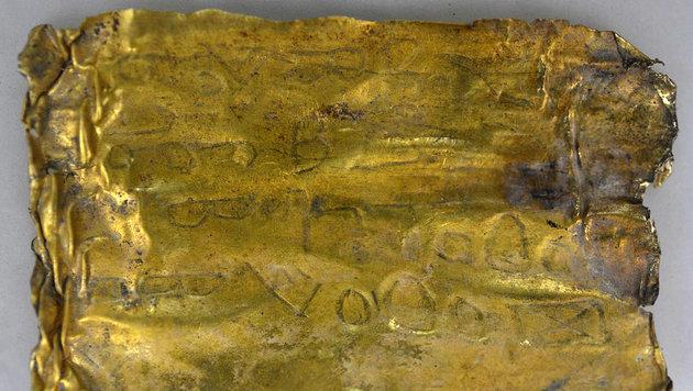 Botschaften auf Goldröllchen in Serbien entdeckt (Bild: Boris Subacic)