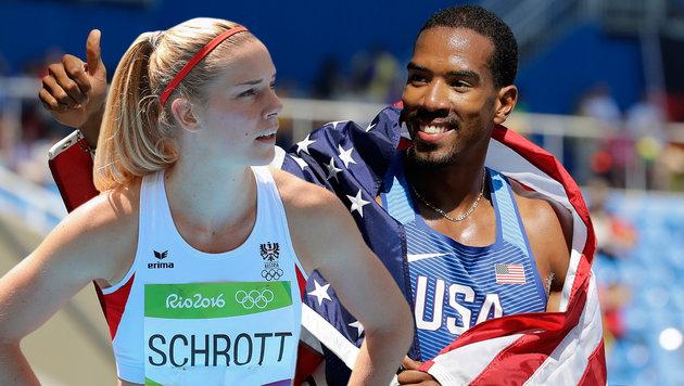 Beate Schrott & Christian Taylor: Verliebt in Rio (Bild: GEPA, AP)