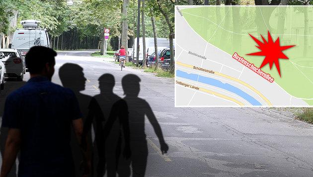 In einer Wohnung in der Rustenschacherallee kam es zur Vergewaltigung. (Bild: thinkstockphotos.de, Zwefo, google.maps, APA/HELMUT FOHRINGER)