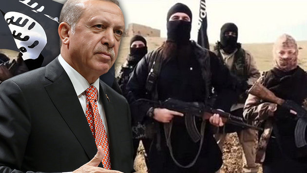 "Erdogan: ""Westen unterstützt den IS"" (Bild: thinkstockphotos.de, Associated Press, twitter.com)"