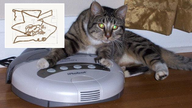 Saugroboter haben massive Probleme mit Tierkot (Bild: flickr.com/ryanh, facebook.com/Jesse Newton)