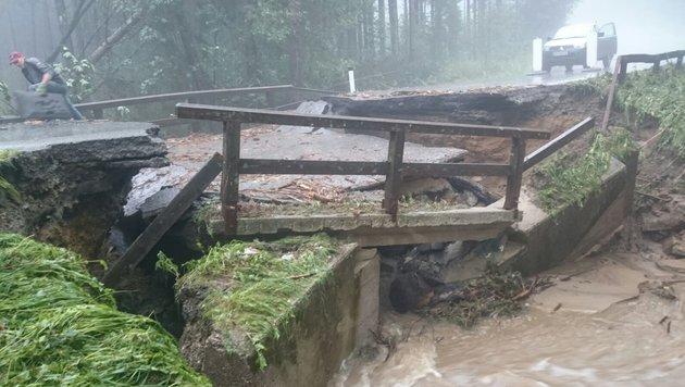 Schwere Schäden nach Unwettern in der Steiermark (Bild: APA/PRESSEDIENST BFVHB)