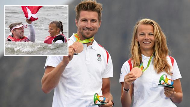 Zajac/Frank erobern erste Medaille f�r �sterreich (Bild: AFP, AP)