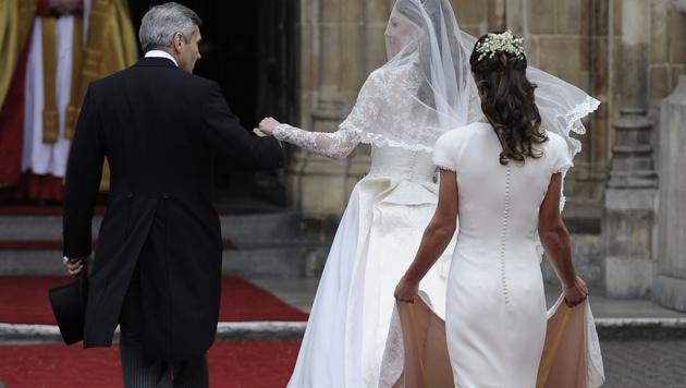 Ihr Po machte Pippa Middleton zum heimlichen Star der Royal Wedding. (Bild: AP)