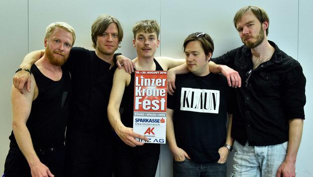 Die schwedischen Rocker von Mando Diao werden am Samstag in Linz auftreten. (Bild: Markus Wenzel)