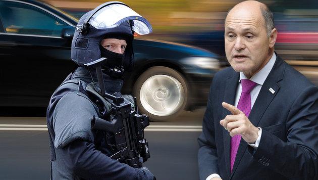 Cobra-Bodyguards krachen in Innenminister-Auto (Bild: thinkstockphotos.de, APA/Robert Jäger, APA/dpa/Marius Becker)
