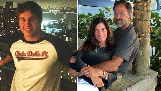 Der 19-jährige Täter (links) und das getötete Ehepaar (rechts) (Bild: facebook.com)
