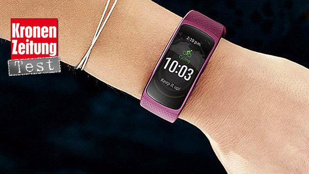 Samsung Gear Fit 2: Fitnessband mit OLED-Display (Bild: Samsung)