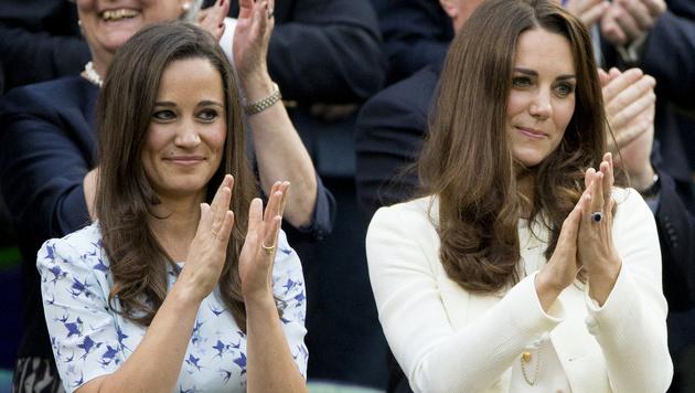 Pippa peppt ihre Haare gerne mit Locken an den Spitzen auf. Das hat sie sich von Kate abgeschaut. (Bild: www.VIENNAREPORT.at)