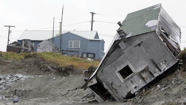 Alaska: Ganzes Inseldorf flieht aufs Festland (Bild: AFP)