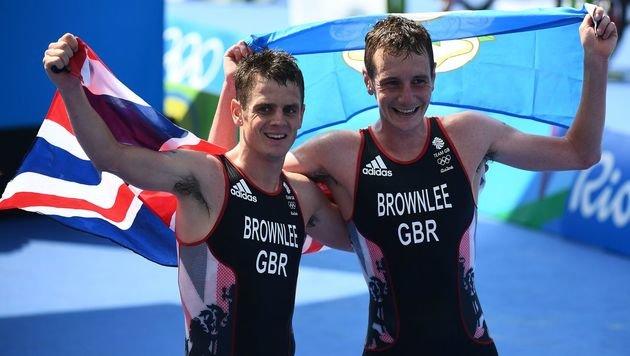 Alistair Brownlee (re) und sein Bruder Jonathan (Bild: AFP)