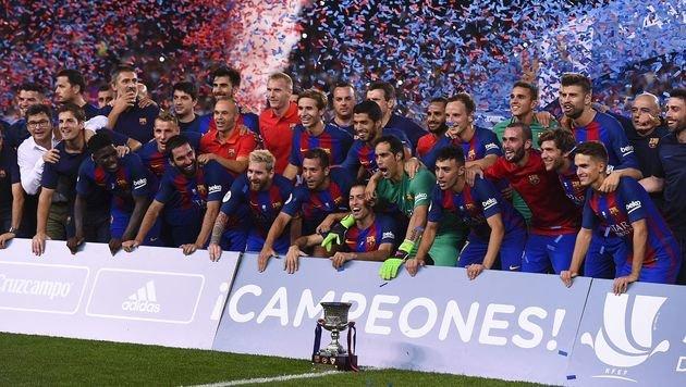 FC Barcelona spaziert zum Supercup-Titel (Bild: AFP)