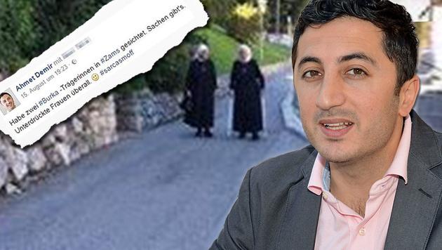 Der Tiroler Grün-Politiker Ahmet Demir verglich diese Nonnen in Zams mit Burka-Trägerinnen. (Bild: Andreas Fischer, Screenshot Facebook)