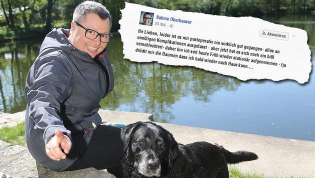 Oberhauser im Spital: Sorge um tapfere Ministerin (Bild: Peter Tomschi, facebook.com/oberhauser)