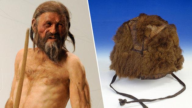 Ötzis Kleidung stammte von fünf Tierarten (Bild: APA/Robert Parigger, APA/Südtiroler Archäologiemuseum)