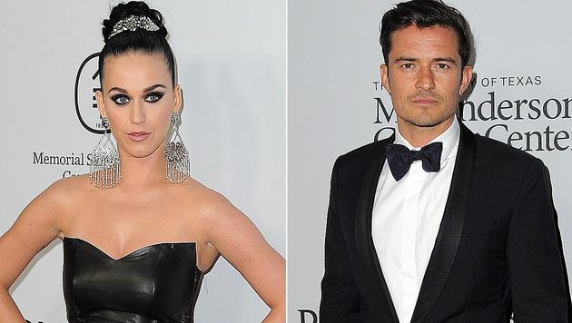 Katy Perry und Orlando Bloom (Bild: APA/AFP/ANGELA WEISS)