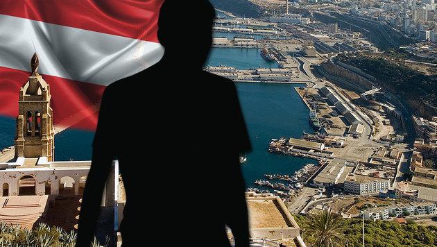 Aus seiner Heimatstadt Wahrane flüchtete der Algerier nach Wien. (Bild: Alchetron.com, thinkstockphotos.de)