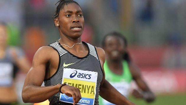 Intersexuelle Semenya geht auf Weltrekord los (Bild: AFP)