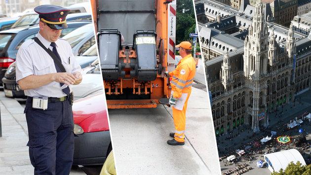 Gebührenerhöhung: Wasser, Parken, Müllabfuhr - alles wird wieder teurer. (Bild: APA/HELMUT FOHRINGER, Martin A. Jöchl, ANDI SCHIEL)