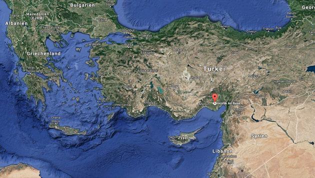 Der Luftwaffenstützpunkt Incirlik liegt unweit der syrisch-türkischen Grenze. (Bild: Screenshot, Google Maps)