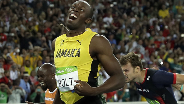 Gold-Bolt verzaubert Rio: Triumph auch �ber 200 m! (Bild: Copyright 2016 The Associated Press. All rights reserved. This m)