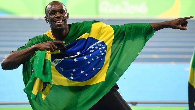 Usain Bolt holt mit Staffel drittes Gold in Rio (Bild: AFP)