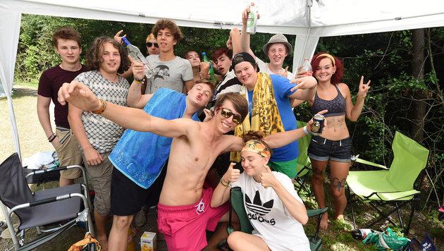 Die Antwoord verwandelten Frequency in Partyzone (Bild: APA/HERBERT P. OCZERET)