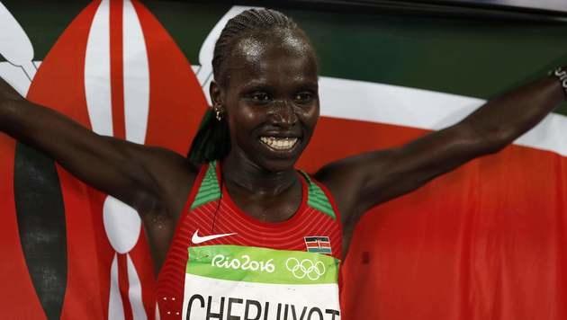 Cheruiyot holt Gold über 5.000 m - Wenth 16. (Bild: AFP)