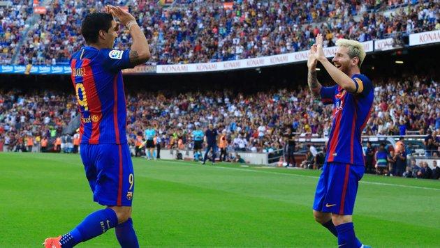 Dreierpack Suarez, Doppelpack Messi! Das ist Barca (Bild: AFP or licensors)