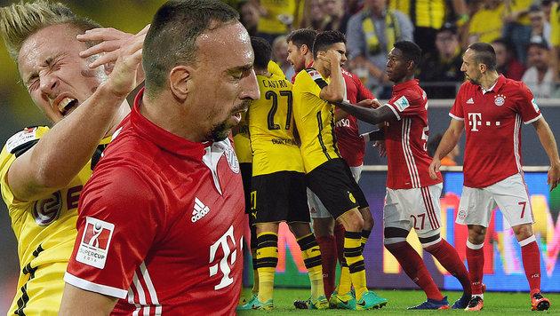 """Hitzkopf"" Ribery bereitet den Bayern Sorgenfalten (Bild: AP/Jonas Guettler, GEPA)"