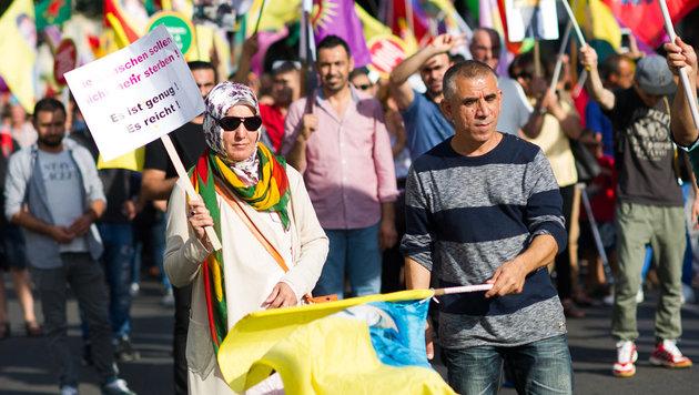 Kurden-Demo in Wiener City ohne Zwischenf�lle (Bild: APA/EXPA/ MICHAEL GRUBER)