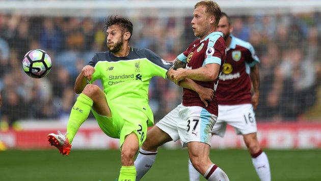 Liverpool blamiert sich gegen Aufsteiger Burnley (Bild: AP)