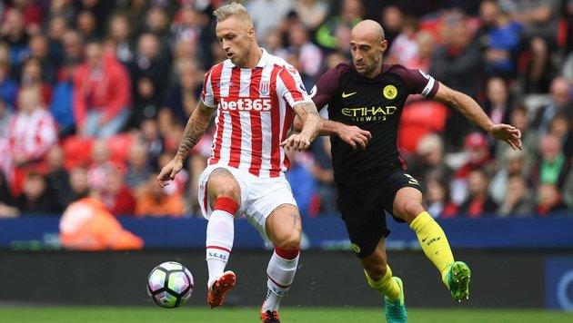 ManCity lässt Stoke und Arnautovic keine Chance (Bild: AFP)