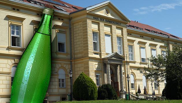 Mit einer mit Wasser gefüllten 1-Liter-Glasflasche ähnlich dieser, soll die Frau zugeschlagen haben. (Bild: Thinkstockphotos.com, Jürgen Radspieler)