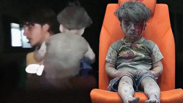 """Syrien: Bruder von """"Kriegskind"""" Omran ist tot (Bild: AP, YouTube.com)"""