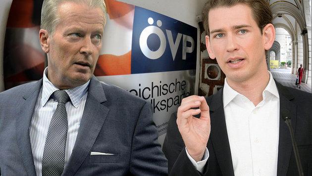 Von Mitterlehner auf Kurz: Kommt es bald zum Wechsel an der ÖVP-Spitze? (Bild: APA/HERBERT NEUBAUER, APA/GEORG HOCHMUTH, APA/ROLAND SCHLAGER)