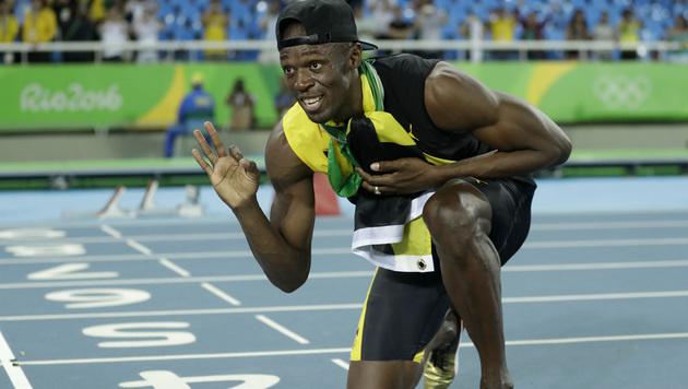 Usain Bolt hat seine Mission erfüllt (Bild: AP)