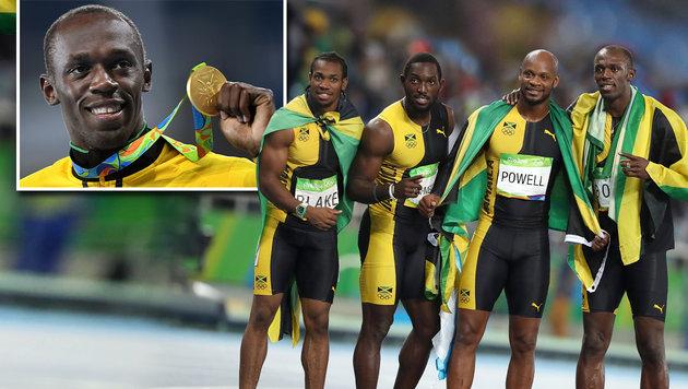 Usain Bolt holt mit Staffel drittes Gold in Rio (Bild: APA/HELMUT FOHRINGER, AP/Lee Jin-man Kopie)
