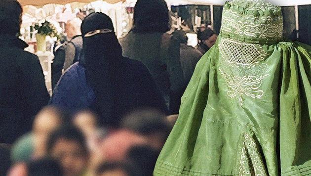 Wann die Burka bei uns erlaubt ist, und wann nicht (Bild: Privat, AFP/AAMIR QURESHI)