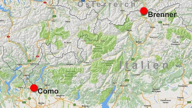 Italien vor Asyl-Kollaps: Neuer Grenzsturm droht! (Bild: Google Maps)