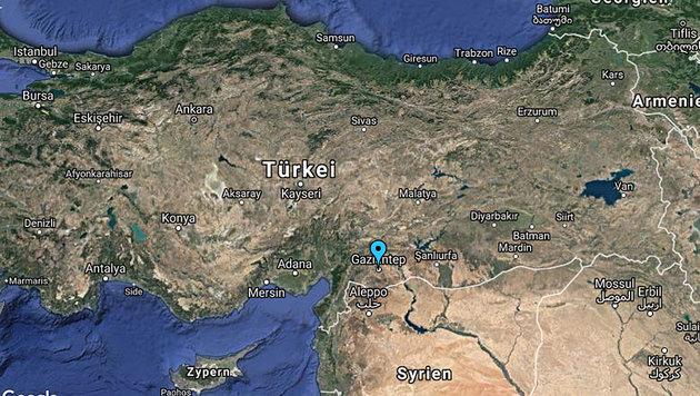 Kurdische Hochzeit endet in Blutbad - 51 Tote (Bild: Screenshot/Google Maps)