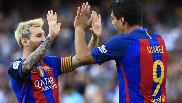 """Barca überragend! Suarez: """"Messi ist eine Bestie"""" (Bild: AFP)"""